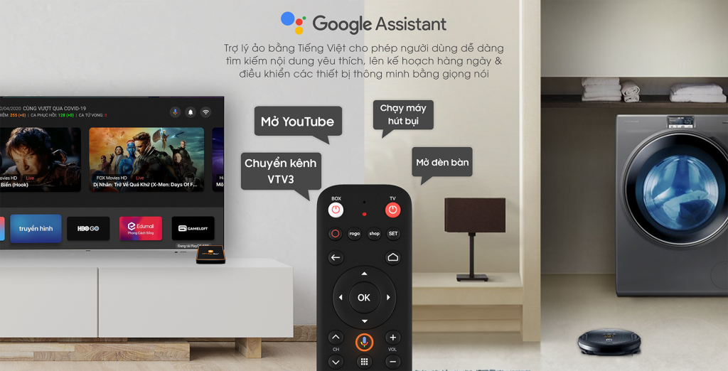 Google Assistant FPT Play Box 2020